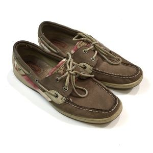 🐢Women's Sperry Topsider Leather Boat Shoes 8